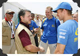 King meets WRC teams
